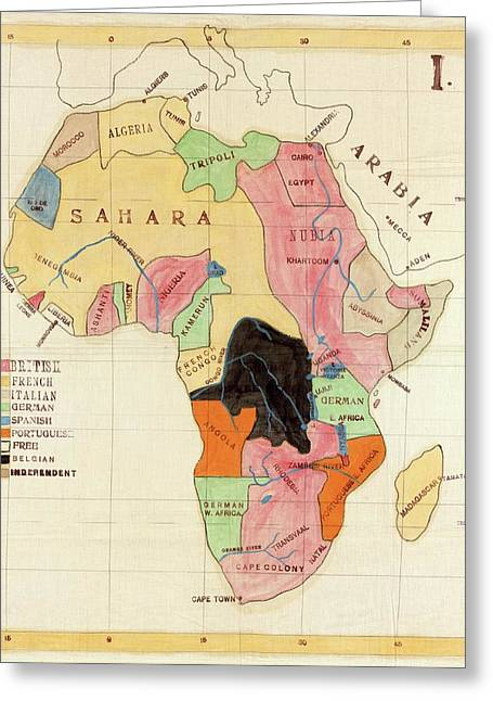 Regions Of Africa Greeting Card by Library Of Congress, Geography And Map Division