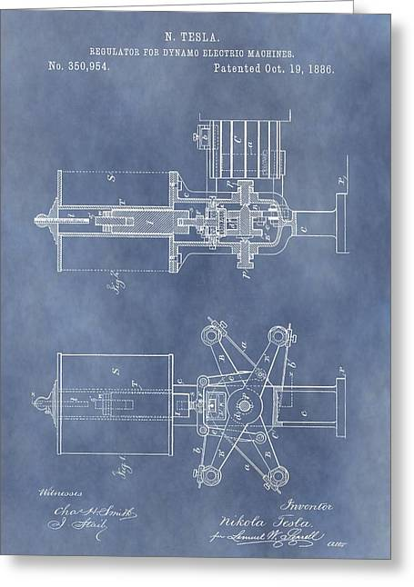 Energize Greeting Cards - Regulator For Dynamo Electric Machine Patent Greeting Card by Dan Sproul