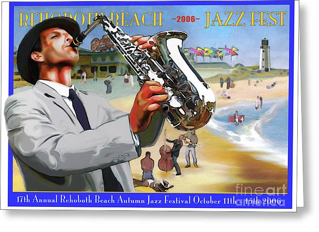 Rehoboth Beach Jazz Fest 2006 Greeting Card by Mike Massengale