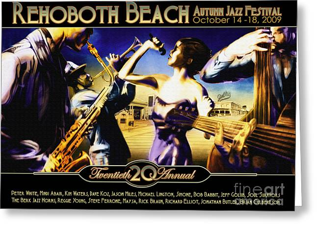 Rehoboth Beach Jazz Fest 2009 Greeting Card by Mike Massengale