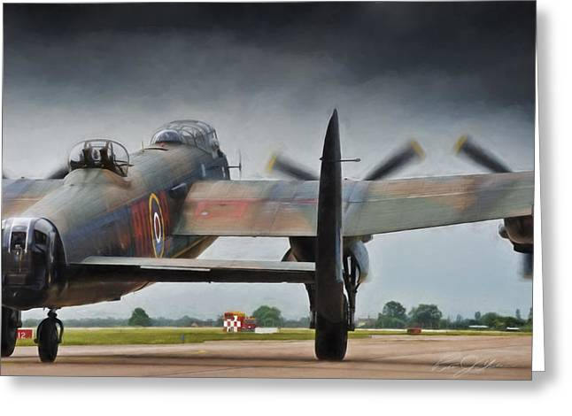 Lancasters Greeting Cards - Reich Breaker Greeting Card by Peter Chilelli