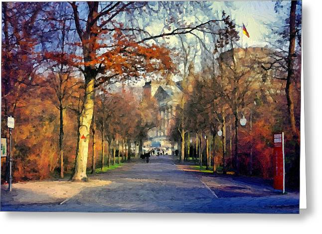 Tor Paintings Greeting Cards - Another World Greeting Card by Ralph van Och