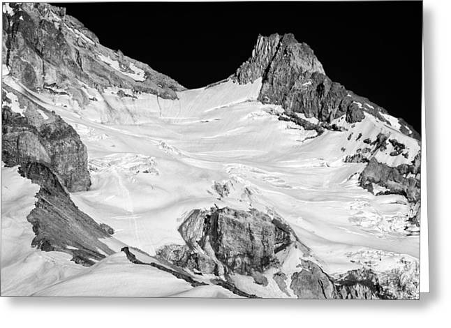Rock Slope Greeting Cards - Reid Glacier and Illumination Rock Greeting Card by Jon Ares