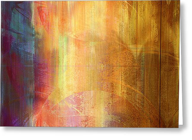 Abstract Prints For Sale Paintings Greeting Cards - Reigning Light - Abstract Art Greeting Card by Jaison Cianelli