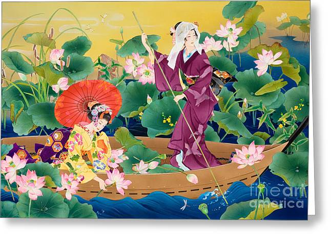 Art Print Digital Art Greeting Cards - Reijitsu Greeting Card by Haruyo Morita