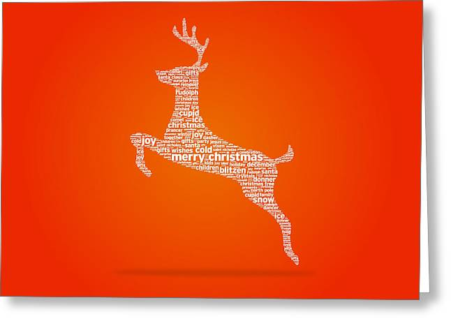 Wishes Drawings Greeting Cards - Reindeer Greeting Card by Aged Pixel
