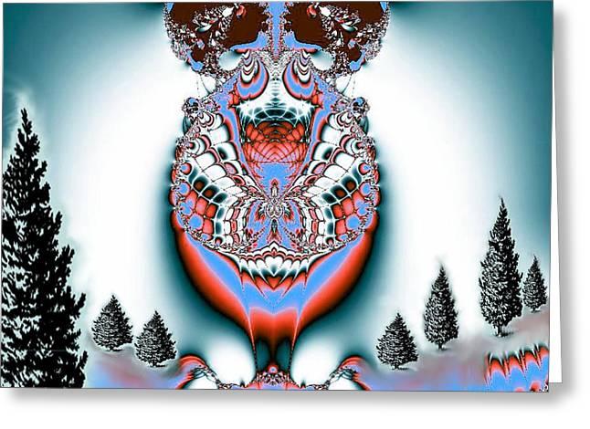 Maria Urso Digital Art Greeting Cards - Reindeer Blues Greeting Card by Maria Urso