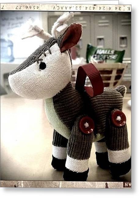 Corduroys Greeting Cards - Reindeer Games Greeting Card by Heather L Giltner