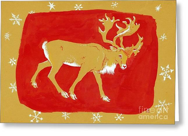 Reindeer Greeting Card by George Adamson