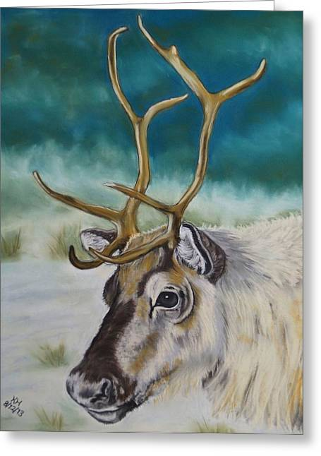 Rudolph Greeting Cards - Reindeer Greeting Card by Kevin Hubbard