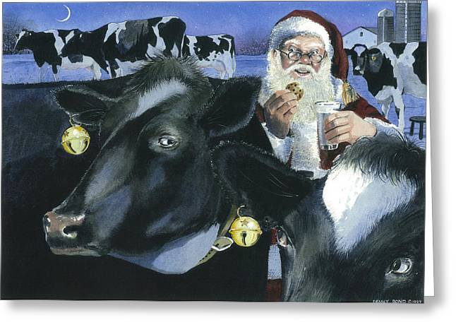 St Nick Greeting Cards - Reindeer Wannabes Greeting Card by Denny Bond