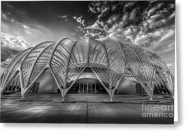 Reinforced Technology - Bw Greeting Card by Marvin Spates