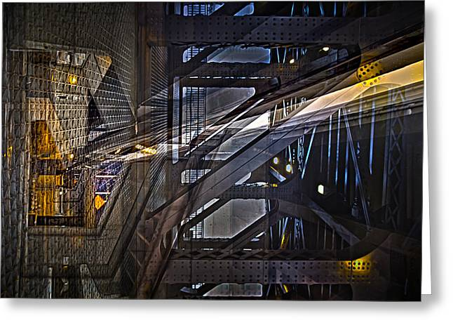 Geometric Digital Art Greeting Cards - Reinforced Underground Greeting Card by Kevin Eatinger