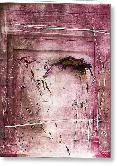 Repetition Mixed Media Greeting Cards - Reiteration Greeting Card by Jeannette Debonne