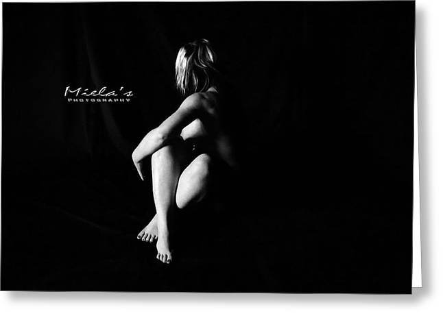 Brunette Nude Art For Sale Greeting Cards - Rejection Greeting Card by Emile Steyn