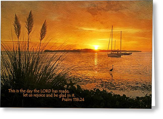 Gospel Greeting Cards - Rejoice And Be Glad Greeting Card by HH Photography of Florida