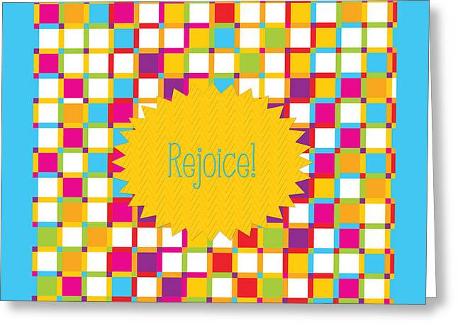 Engagement Gift Greeting Cards - Rejoice Greeting Card by Bonnie Bruno