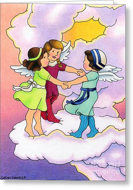 Uplifting Drawings Greeting Cards - Rejoice Greeting Card by Sarah Batalka