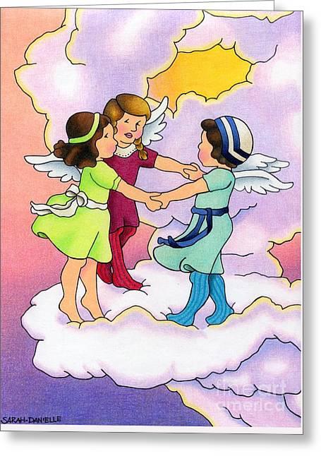 Seraphim Angel Greeting Cards - Rejoice Greeting Card by Sarah Batalka