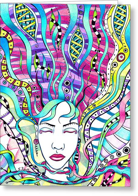 Sleeping Mermaid Greeting Cards - Rejuvenation  Greeting Card by Shawna  Rowe