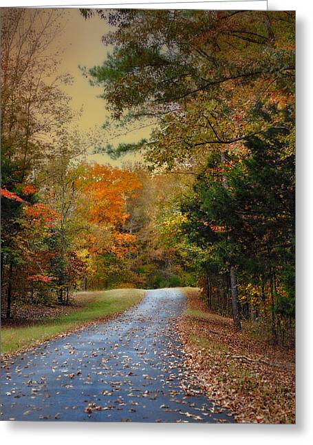 Fall Scenes Greeting Cards - Rekindled Spirit - Autumn Landscape Scene Greeting Card by Jai Johnson