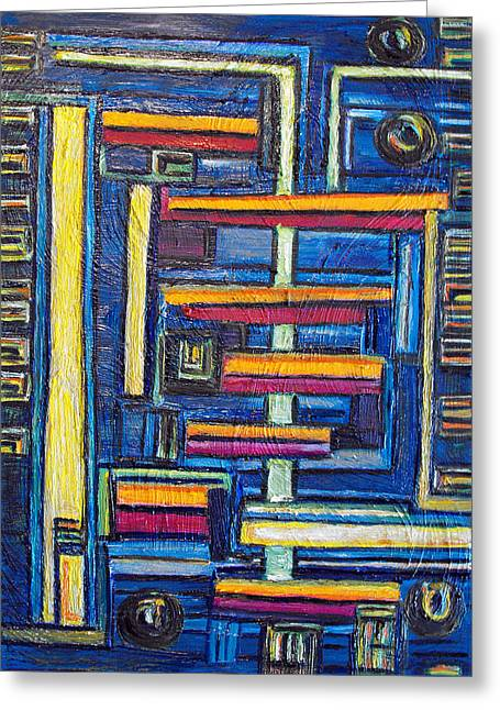 Summary Greeting Cards - Relations II. Greeting Card by Agnes Roman