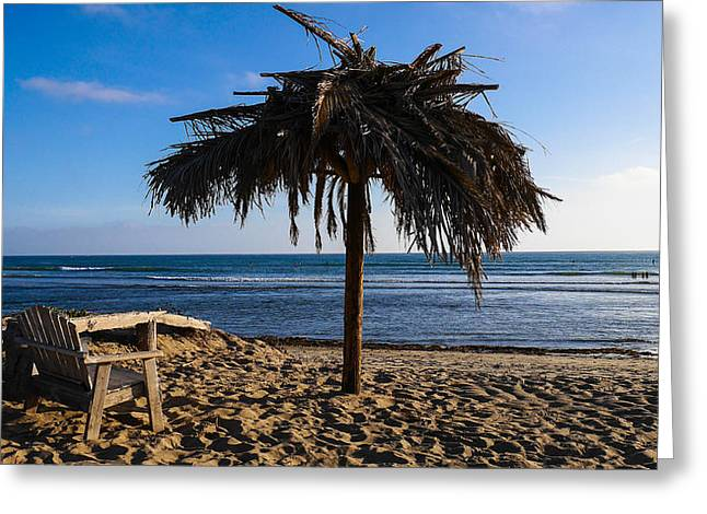 Clemente Greeting Cards - Relax at San Onofre - Old Mans Greeting Card by Richard Cheski