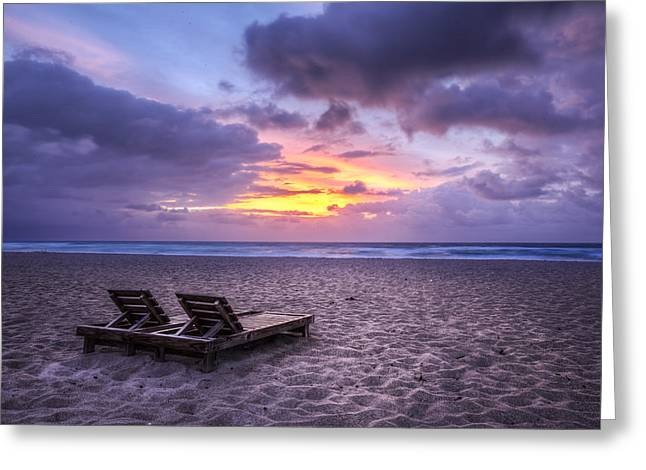 Chaise Greeting Cards - Relax Greeting Card by Debra and Dave Vanderlaan