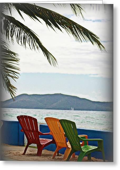 Lawn Chair Greeting Cards - Relax Greeting Card by Fran James