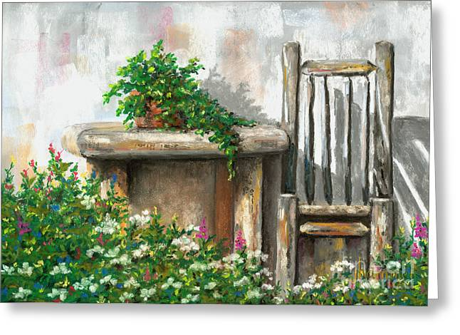 Rustic Pastels Greeting Cards - Relax Greeting Card by Jennifer Hammer