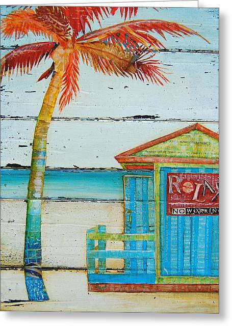 Relax No Working Greeting Card by Danny Phillips