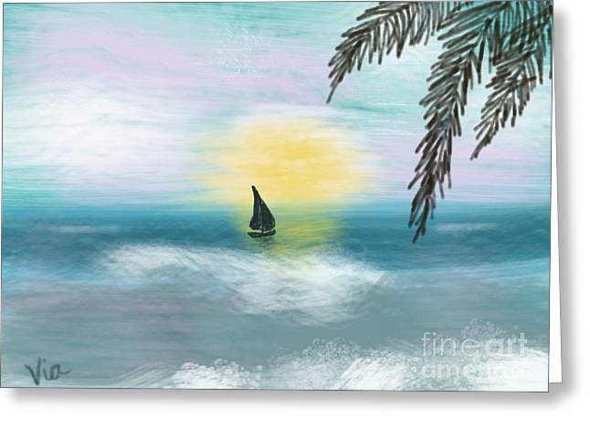 Judy Via-wolff Greeting Cards - Relaxation Greeting Card by Judy Via-Wolff