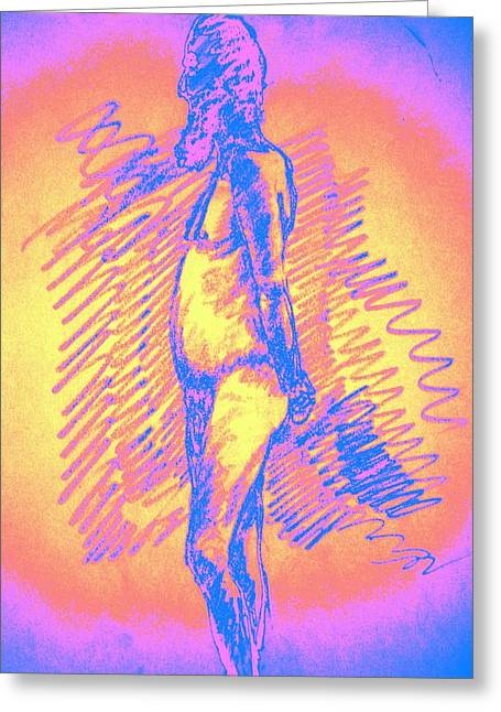 Psycho Drawings Greeting Cards - Relaxed Greeting Card by Genio GgXpress