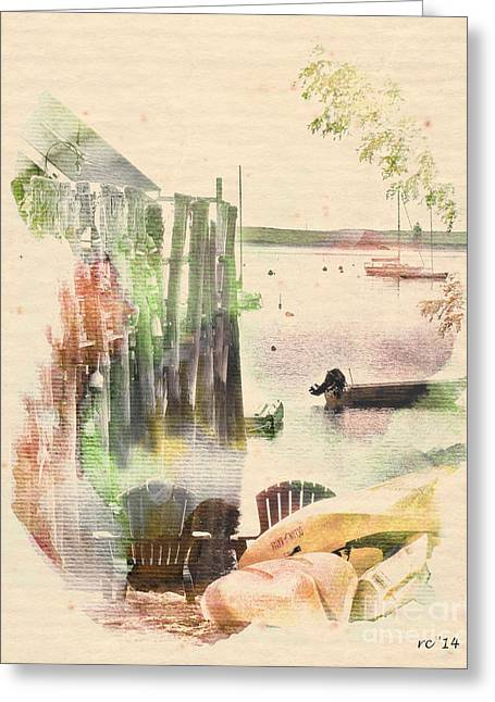 Ptown Greeting Cards - Relaxing Bayside...ptown Greeting Card by Rene Crystal
