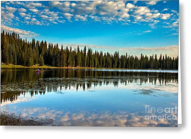 Relaxing On The Lake Greeting Card by Robert Bales