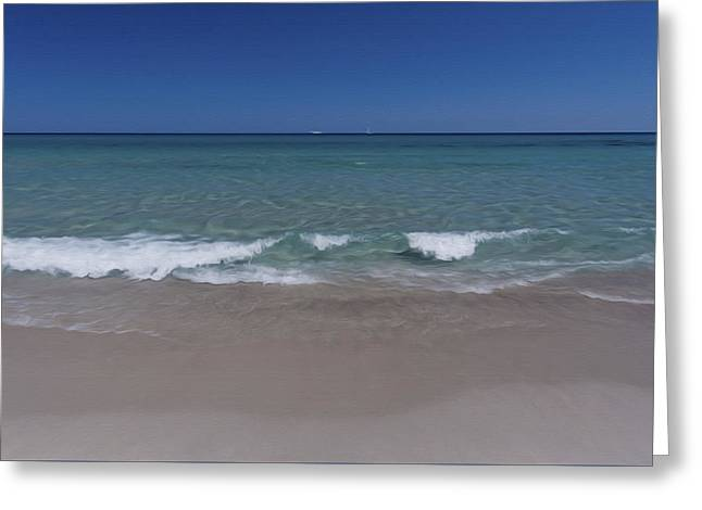 Libertas Greeting Cards - Relaxing Seascape Wide Greeting Card by Alessandro Martinetti