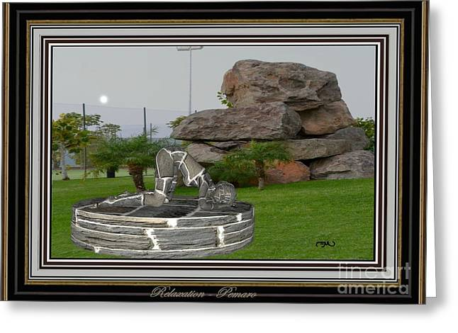 Statue Portrait Greeting Cards - relaxing statue 003RS2 Greeting Card by Pemaro