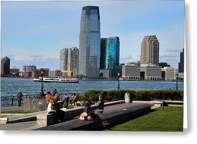New Mind Greeting Cards - Relaxing Weekend On New York Harbor Greeting Card by Dan Sproul