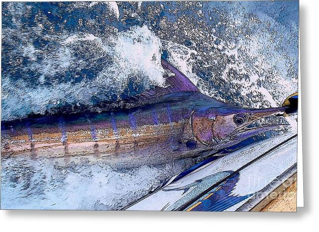 Sportfishing Boats Greeting Cards - Release Greeting Card by Carey Chen