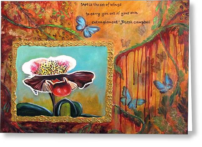 """""""dripping Vines"""" Greeting Cards - Release -- my Trail of Tears Greeting Card by Carol Allen Anfinsen"""