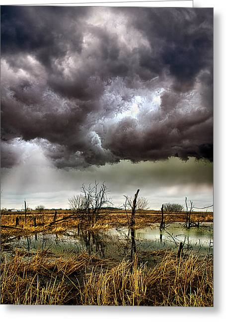 Summer Storm Photographs Greeting Cards - Relentless Greeting Card by Phil Koch