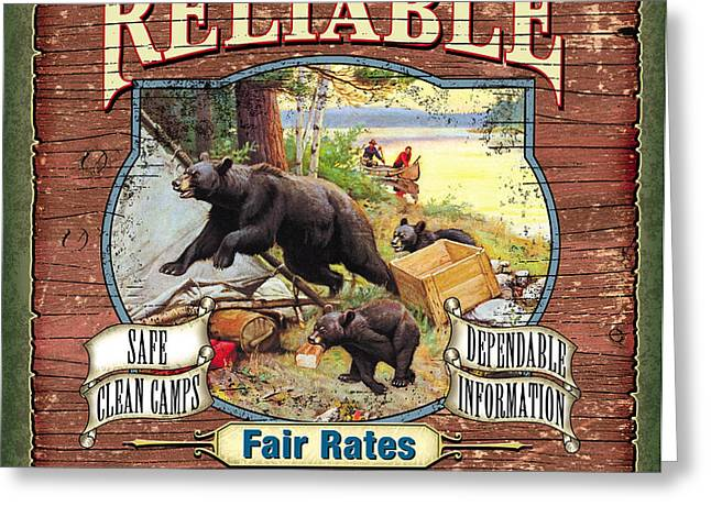 Reliable Guide Service Sign Greeting Card by JQ Licensing