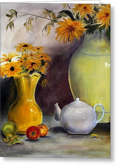 Fruit And Flowers Greeting Cards - Reliable Loyalty Greeting Card by Jane Autry