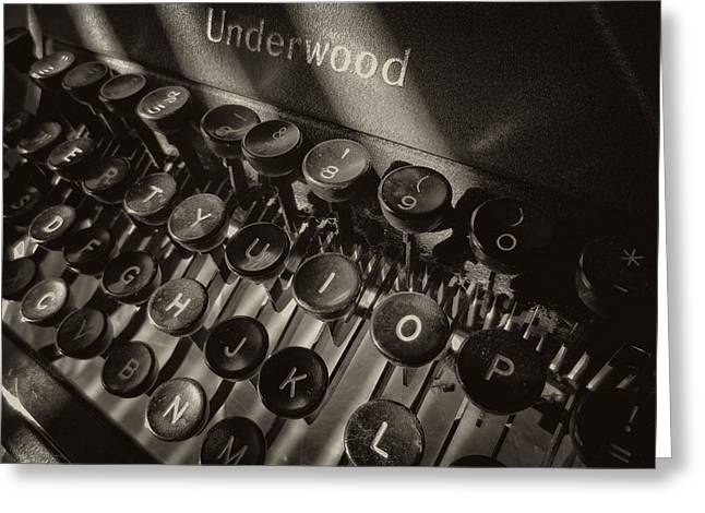 Typewriter Keys Greeting Cards - Relic in Sepia II Greeting Card by Tony Grider