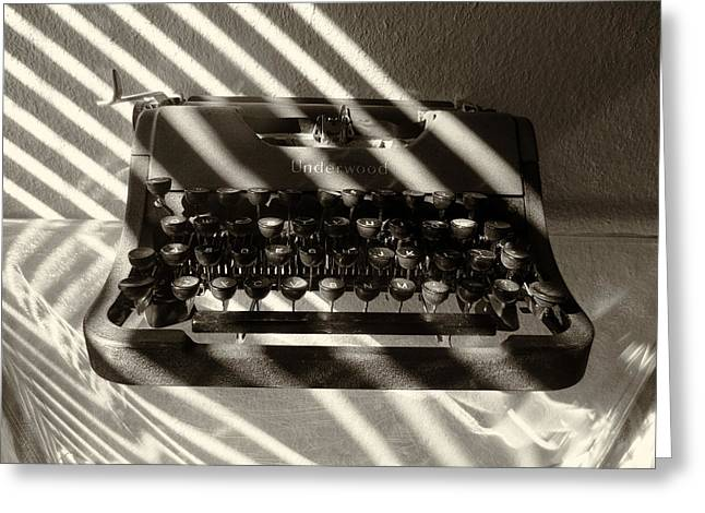 Typewriter Keys Greeting Cards - Relic in Sepia Greeting Card by Tony Grider
