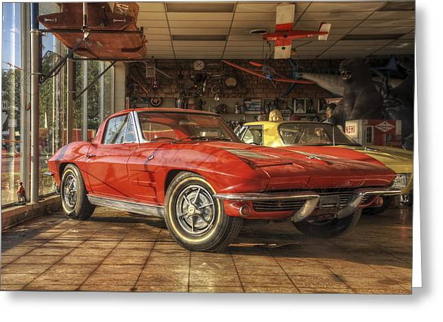 Russellville Arkansas Greeting Cards - Relics of History - Corvette - Elvis - Nehi Greeting Card by Jason Politte