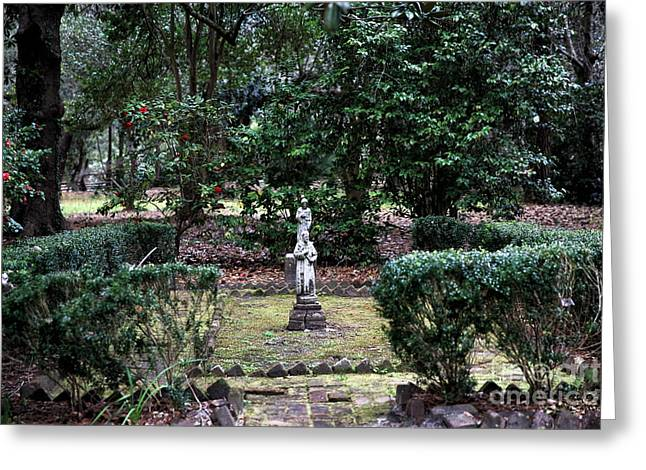 Religion In The Garden Greeting Card by John Rizzuto