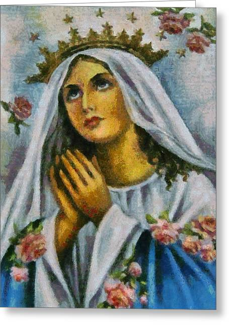 Devotional Art Greeting Cards - Religious Art 22 Greeting Card by Victor Gladkiy