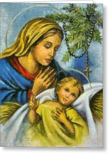 Devotional Art Greeting Cards - Religious Art 23 Greeting Card by Victor Gladkiy