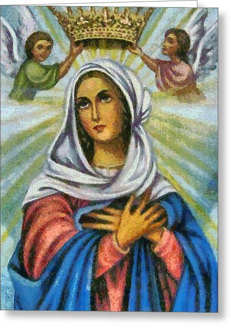 Religious Paintings Greeting Cards - Religious Art 24 Greeting Card by Victor Gladkiy